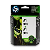 HP 61   2 Ink Cartridges   Black   CH561WN