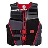 Hyperlite Men's Prime Life Jacket Black/Red (L)