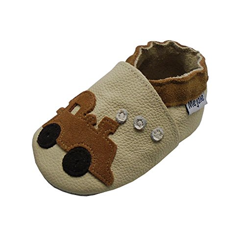 d20ec2b5bb4a0 Mejale Baby Shoes Soft Sole Leather Crawling Moccasins Cartoon Train Infant  Toddler First Walker Slippers - Baby House