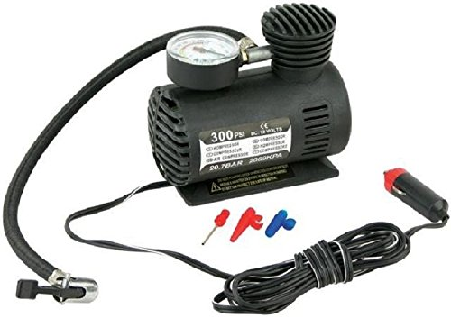 Stark CHIA477 Portable 12 Volt Mini Air Compressor Pump with Gauge Car 300 PSI Tire Inflator