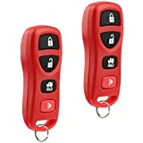 Key Fob Keyless Entry Remote fits Nissan Altima Maxima 350Z Armada Quest Sentra / Infiniti EX35 FX35 FX45 G35 I35 Q45 QX56 (KBRASTU15 Red), Set of 2