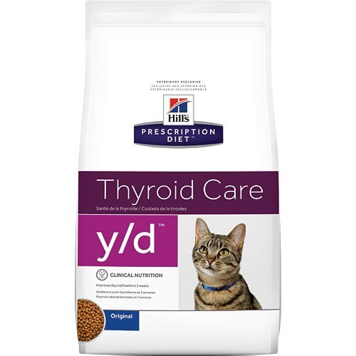 Hill's Prescription Diet y/d Thyroid Care Original Dry Cat Food 4 lb