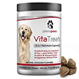 Vita Treats - Dog Vitamins and Supplements - Hemp Oil for Dogs - Glucosamine Chondroitin for Dogs - Omega 3 Fish Oil for Skin & Coat - Probiotics - Dog Joint Supplement - 120 Dog Multivitamin Chews