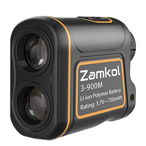 Zamkol Golf Laser Rangefinder, 1000 Yards Laser Rangefinder,IP54 Laser Binoculars for Hunting,Multi-Function Hunting Rangefinder with Speed/Vertical Height/Angle/Horizontal Distance Measurement