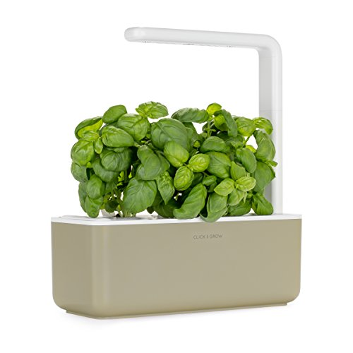 Click-and-Grow-Smart-Garden-3-Indoor-Herb-Garden-Includes-Basil-Plant-Pods-Beige