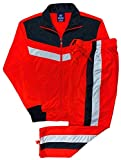 Men's rtGlad Activewear Track Pant and Track Jacket Sports Jogger Athletic Debut 90's Outfit Set (Red, L)