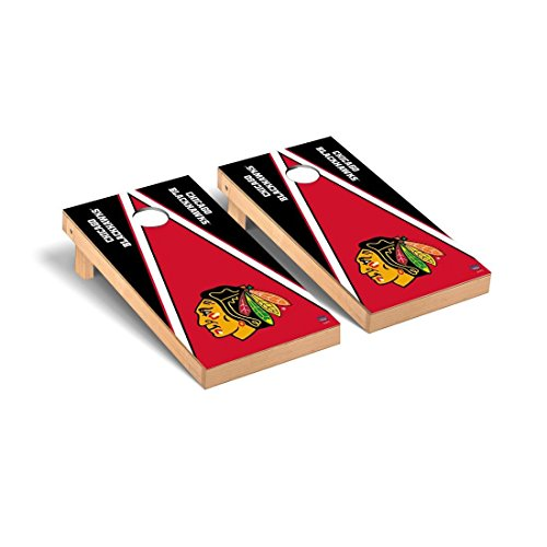 Victory Tailgate NHL Regulation Cornhole Game Set - Triangle Version - Chicago Blackhawks