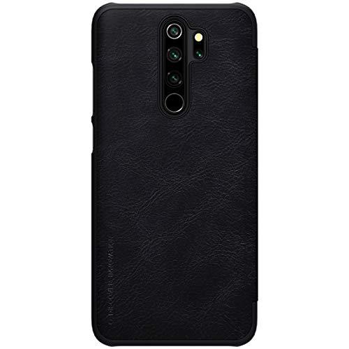 """Nillkin Case for Xiaomi Redmi Note 8 Pro (6.53"""" Inch) Qin Genuine Classic Leather Flip Folio + Card Slot Black Color 4"""