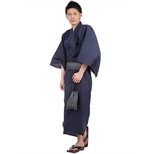 K sera sera Yukata Geta Mens Japanese Japan Navy01 Large