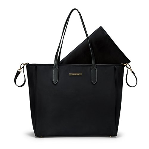 mommore Diaper Bag Large Totes Handbag with Changing Pad for Baby, Black