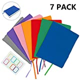 Jumbo Book Covers Fits Most Hardcover Textbooks Up To 9x11, 7 Pack, Stretchable Book Sox, Durable Book Protector, Washable and Reusable, Label Stickers Included