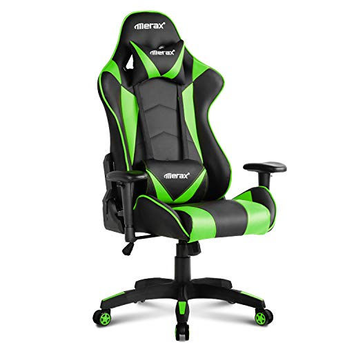 Merax PP033082CAA Gaming High Back Computer Ergonomic Design Racing Chair, 21.7' L X 21.7' W X52.4 H Blue