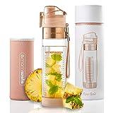 MAMI WATA Fruit Infuser Water Bottle – Beautiful Gift Box – Unique Stylish Design - Free Fruit Infused Water Recipes eBook Insulating Sleeve – 24oz