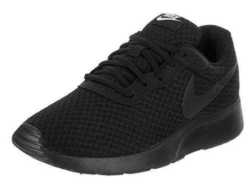 Nike Womens Tanjun Black/Black White Running Shoe 8.5 Women US