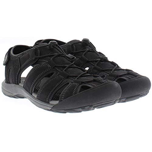 Khombu Mens Travis Active Sandal (Black, 11)