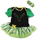 Amedahk Baby Princess Coronation Costume Bodysuit Dress L Green