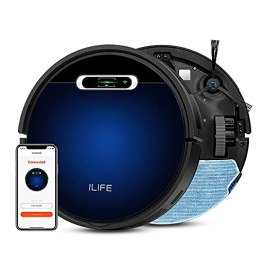 ILIFE B5Max Robot Vacuum,Wi-Fi Connected, 2000Pa Strong Suction,Path Pattern, Vacuum and Mop(50ml Water Tank),Large…