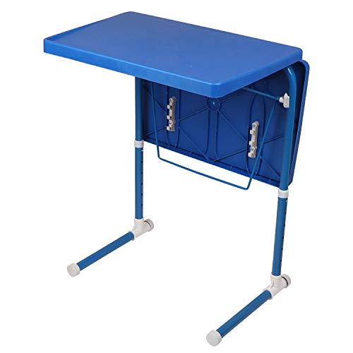 MULTI - TABLE Dual Side Multi Purpose Adjustable Foldable Utility Table for Laptop, Study, Kids, Office, Meal (Blue) 7
