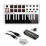 Akai Professional MPK Mini MKII White | 25-Key Ultra-Portable USB MIDI Drum Pad & Keyboard...
