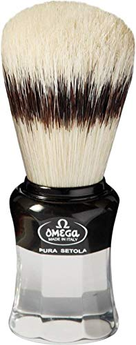Omega Shaving Brush and Stand Pure Bristles # 81064 5