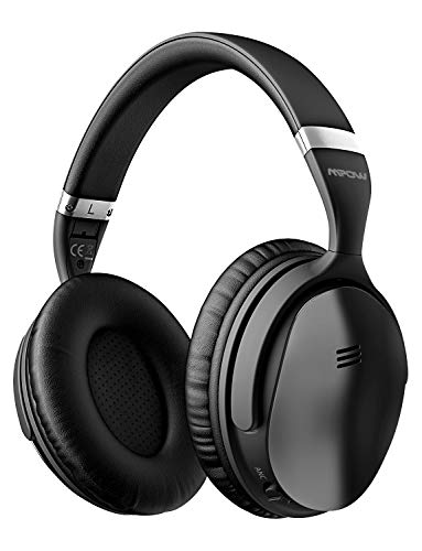 Mpow H5 Active Noise Cancelling Headphones, Superior Deep Bass Bluetooth Headphones Over Ear, 30Hrs Playtime ANC Wireless Headphones with Mic, Soft Protein Earpads, for TV/PC/Cellphone/Travel/Work