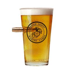 Officially Licensed USMC Pint Glass - Hand blown