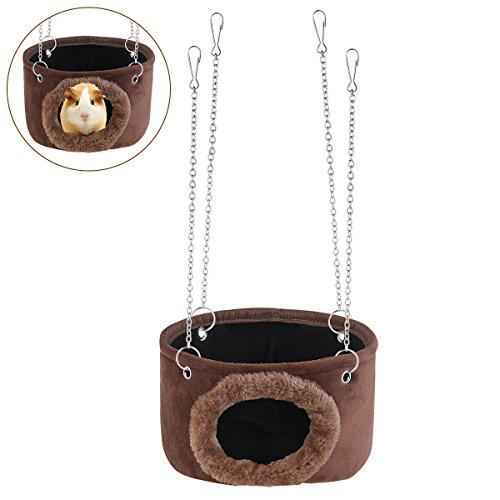 WINOMO Pet Hammock Hamster Hanging Toy Snuggle Hut for Squirrel, Chinchilla, Guinea, Pig, Rat, Mice, Small