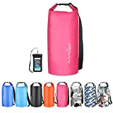 OMGear Waterproof Dry Bag Backpack Waterproof Phone Pouch 40L/30L/20L/10L/5L Floating Dry Sack for Kayaking Boating Sailing Canoeing Rafting Hiking Camping Outdoors Activities (Pink2, 10L)
