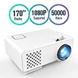 Projector, FUNAVO RD-815 LED Mini Video Projector Multimedia Home Theater, Supports 1080P, Laptops, Smartphones, Amazon Fire TV Stick & DVDs via HDMI, USB, VGA & AV (White)