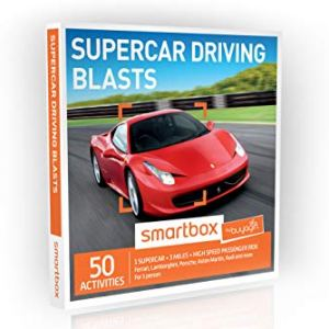 Buyagift Supercar Driving Blasts Gift Experiences Box – 50 thrilling supercar driving gifts for the car enthusiast with…