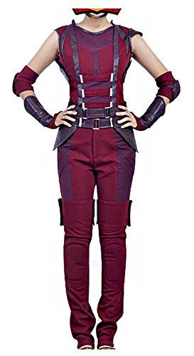 Mtxc Women's Guardians of the Galaxy Cosplay Costume Nebula Full Set Size XX-large Red