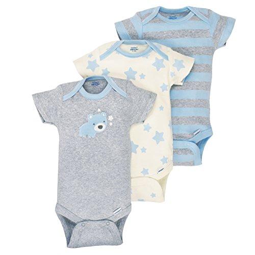 1a5132e70 Gerber Baby Boys 3 Pack Organic Short Sleeve Onesies Brand Bodysuit ...