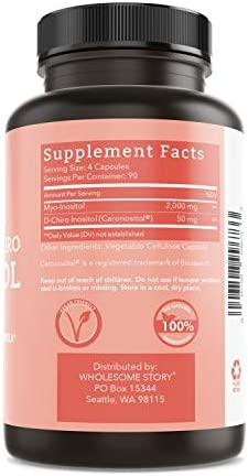 Myo-Inositol & D-Chiro Inositol Blend | 90-Day Supply | Most Beneficial 40:1 Ratio | Hormonal Balance & Healthy Ovarian Function Support for Women | Vitamin B8 | Made in USA (360 Capsules) 5
