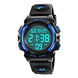 ATOPdream Watch for 5-12 Years Old Boys, My-My Led Kids Watch Birthday Gifts for Boys Girls Cool Sports Watch for Boys Digital Watch for Child Gifts for Kids Kids Watches Boys Waterproof Blue MMXSB02