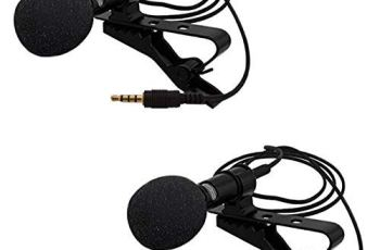 Happysale [Buy 1 *Get 1 *Free] Best 3.5mm Clip Microphone Collar Mic for YouTube and Recording Mike for Voice Recording, Lepel Mic Mobile, Android Smartphones, Camera, for Online Classes (Pack 2)