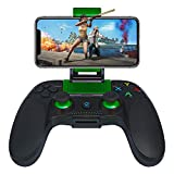 JmeGe Wireless Gaming Controller Gamepad for Android/iOS for Samsung S9 S10 Huawei P30 iPhoneX XR with Retractable Bracket Support 6-inch Mobile Phones