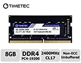 Timetec Hynix IC 8GB DDR4 SODIMM for Intel NUC KIT Products Mini PC/HTPC 2400MHz PC4-19200 Non ECC Unbuffered 1.2V CL17 1Rx8 Single Rank 260 Pin Laptop Notebook Computer Memory Ram Module Upgrade(8GB)