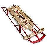 """Flexible Flyer Metal Runner Sled. Steel & Wood Steering Snow Slider, 48"""""""