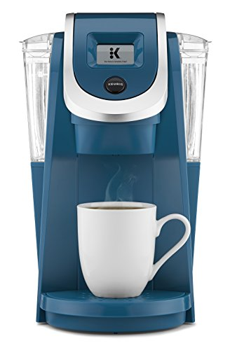 Keurig K250 Coffee Maker, Single Serve K-Cup Pod Coffee Brewer, With Strength Control, Peacock Blue
