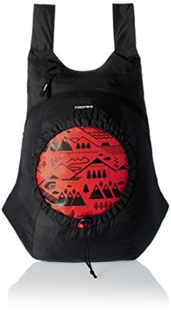 GEAR Black and Orange Casual Backpack
