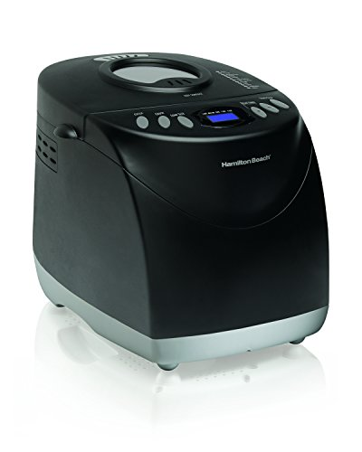 Hamilton Beach 29882 2 lb Non-Stick Bread Maker Programmable and Dishwasher Safe, Includes 2 Kneading Paddles, Black