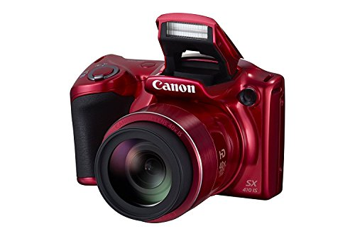 Canon PowerShot SX410 IS 20.0 MP Digital Camera with 40x Optical Zoom (24-960mm) and 24mm Wide-Angle lens, 3.0 Inch LCD and 720P HD Video - Red (Certified Refurbished)