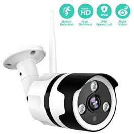 Outdoor Camera – 1080P Security Camera Outdoor, IP66 Waterproof, 2-Way Audio Home Security Camera, Outdoor Camera Wireless with Motion Detection Night Vision, Cloud Storage/TF Card Work with Alexa