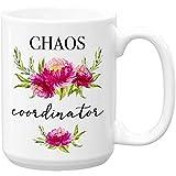 Chaos coordinator, Large 15 oz Ceramic Coffee Mug Cup
