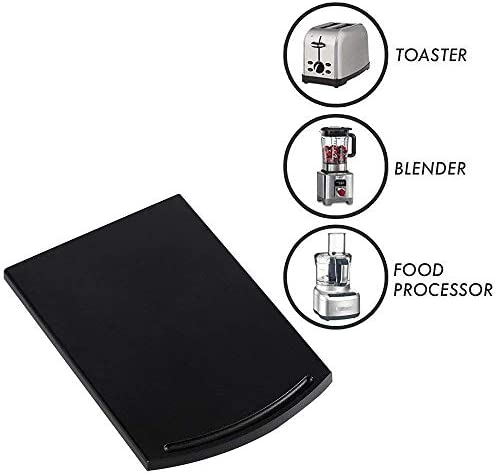 1 Pack Coffee Maker Trays, Kitchen Caddy Sliding Coffee Tray Mat, 12'' Under Cabinet Appliance Coffee Maker Toaster Countertop Storage Moving Slider with Smooth Rolling Wheels