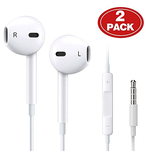 2-Pack-Aux-HeadphonesEarphonesEarbuds-35mm-Wired-Headphones-Noise-Isolating-Earphones-with-Built-in-Microphone-Volume-Control-Compatible-with-Phone-6-SE-5S-4-Pod-PadAndroid-MP3
