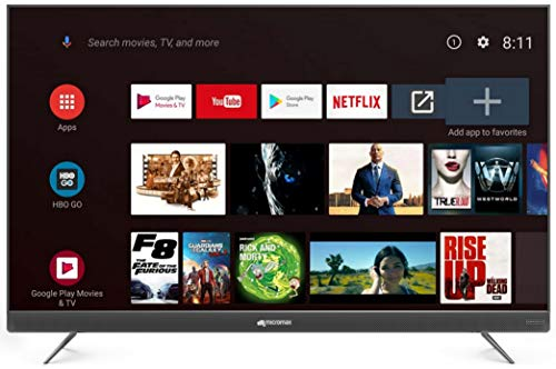 Micromax 139.7 cm (55 inches) 4K UHD LED Certified Android TV L55TA7000UHD  (Matte Grey) 185