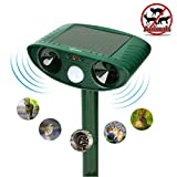 ZOVENCHI Ultrasonic Animal Pest Repeller, Outdoor Solar Powered Pest and Animal Repeller - Effectively Scares Away All Outdoor pests and Animals Such as Dogs, Raccoons
