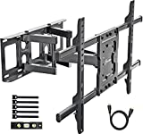 EVERVIEW TV Wall Mount Bracket fits to most 37-70 inch LED,LCD,OLED Flat Panel TVs, Tilt Full motion Swivel Dual Articulating Arms, bring perfect viewing angle, Max VESA 600X400, 132lbs Loading