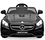 Best Choice Products 12V Kids Battery Powered Licensed Mercedes-Benz S63 Coupe RC Ride-On Car w/ Parent Control, LED Lights, MP3 Player, 3 Speeds - Black